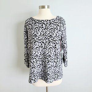 Tahari leopard print sweater